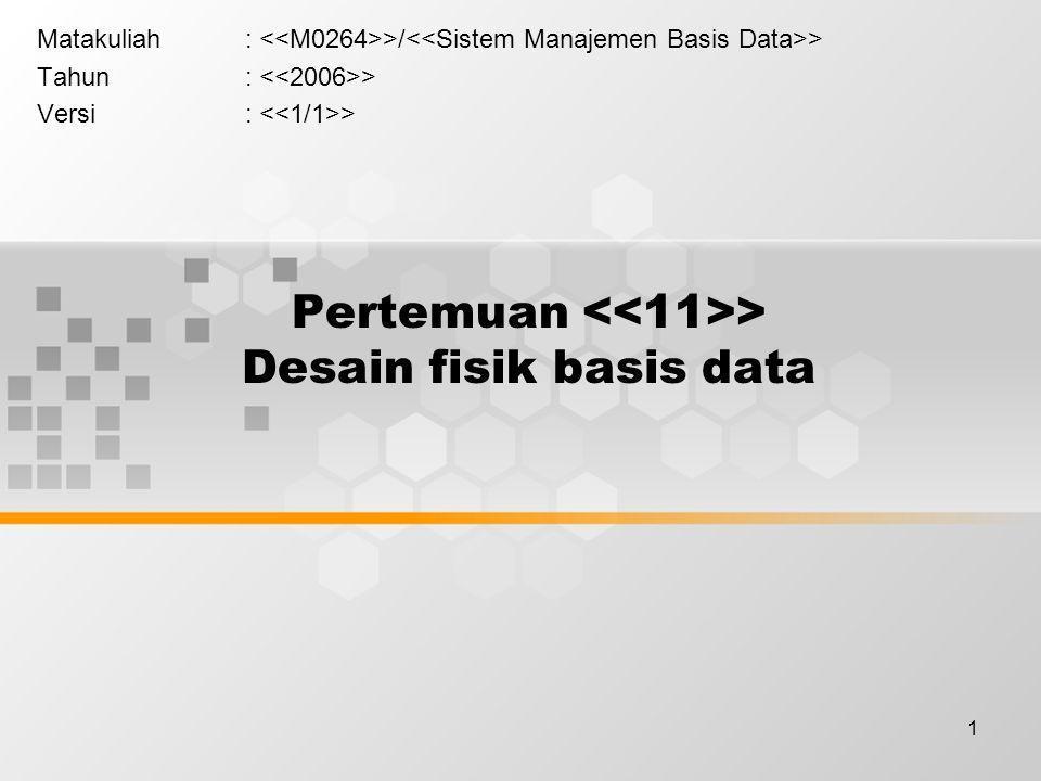 12 > Dilanjutkan ke pert. 12 Paralel dan Basis Data Terdistribusi