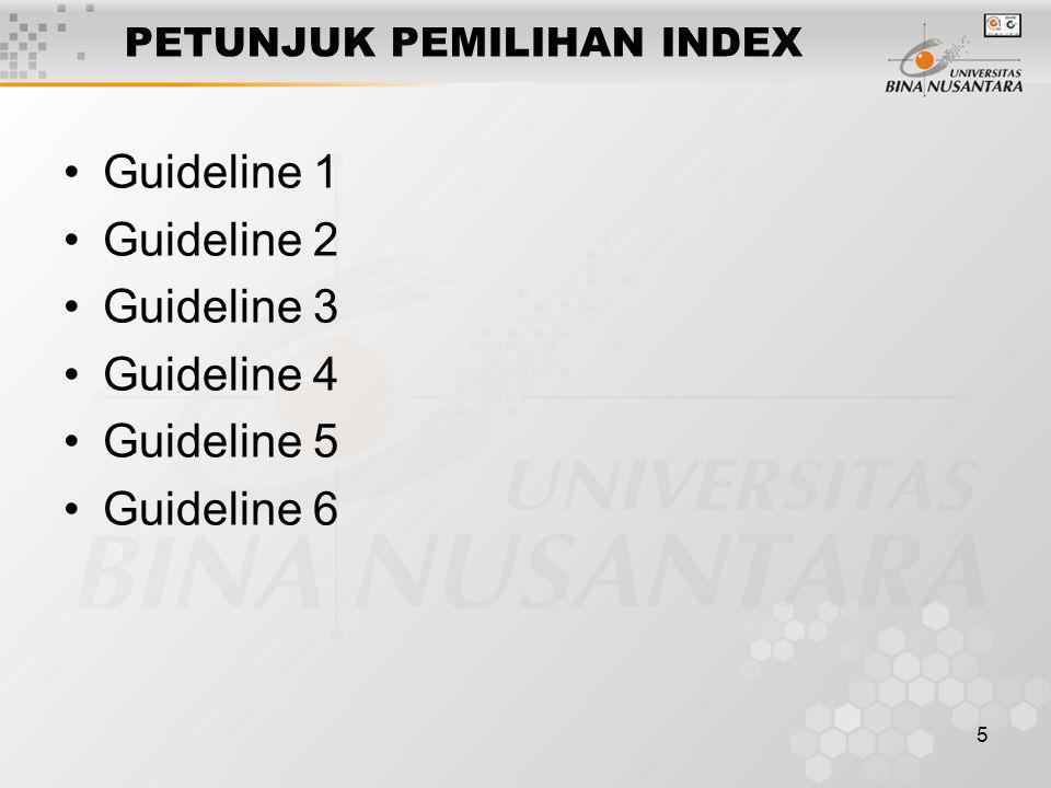 6 CONTOH SEDERHANA PEMILIHAN INDEX SELECT E.ename, D.mgr FROM Emp E, Dept D WHERE D.dname='Toy' AND E.dno=D.dno SELECT E.ename, D.mgr FROM Emp E, Dept D WHERE E.sal BETWEEN 10000 AND 20000 AND E.hobby='Stamps' AND E.dno=D.dno