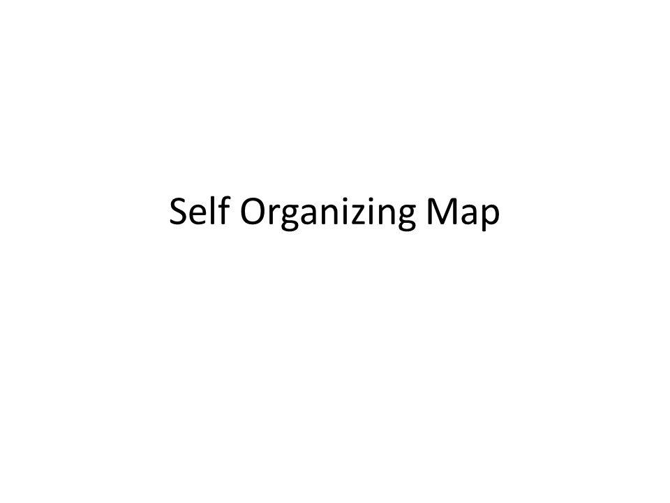 SOM Jaringan Self- Organizing Map merupakan salah satu model jaringan saraf tiruan yang menggunakan metode pembelajaran tanpa supervisi (unsupervised learning) Salah satu keunggulan dari algoritma Self- Organizing Map adalah mampu untuk memetakandata berdimensi tinggi kedalam bentuk peta berdimensi rendah.