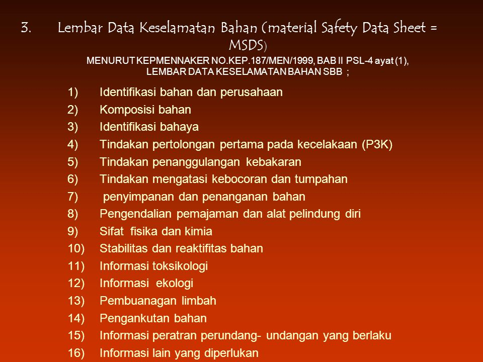 Prevention Strategy Miscellaneous Requirements –Cables, equipment cords, etc.