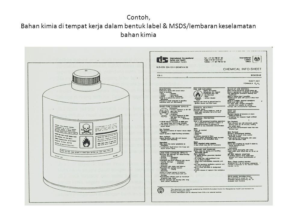 BAHAN KIMIA MUDAH MELEDAK, REAKTIF, OKSIDATOR KRITERIA MUDAH MELEDAK : oBila bereaksi menghasilkan gas dlm jumlah besar oTekanan dan suhu meningkat dg cepat oBejana / wadah akan pecah KRITERIA REAKTIF : oBila terkena air, timbul gas panas mudah terbakar oBila tercampur senyawa asam, timbul gas panas yg mudah terbakar, atau beracun atau korrosif KRITERIA OKSIDATOR : oBila terjadi reaksi kimia atau penguraiannya akan menghasilkan gas O 2