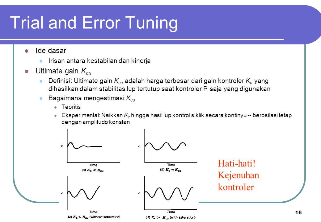 17 Trial and Error Tuning Prosedur 1.