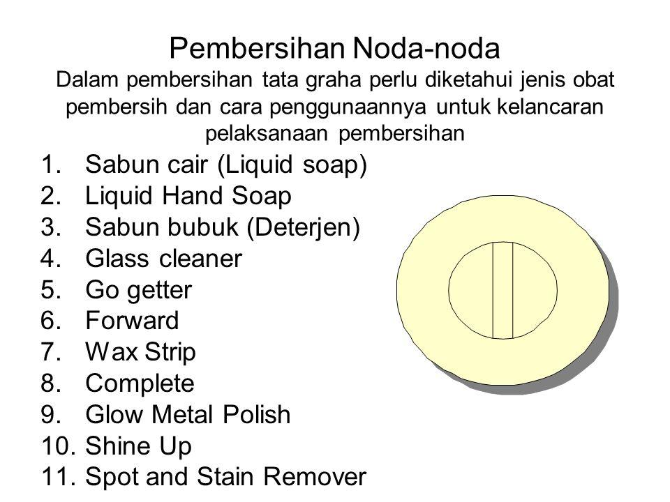 3. VACUUM CLEANER : Metode pembersihan dengan menyedot debu pada karpet atau lantai dan peralatan lainnya. Vacuum cleaner dilengkapi dengan mesin, sel