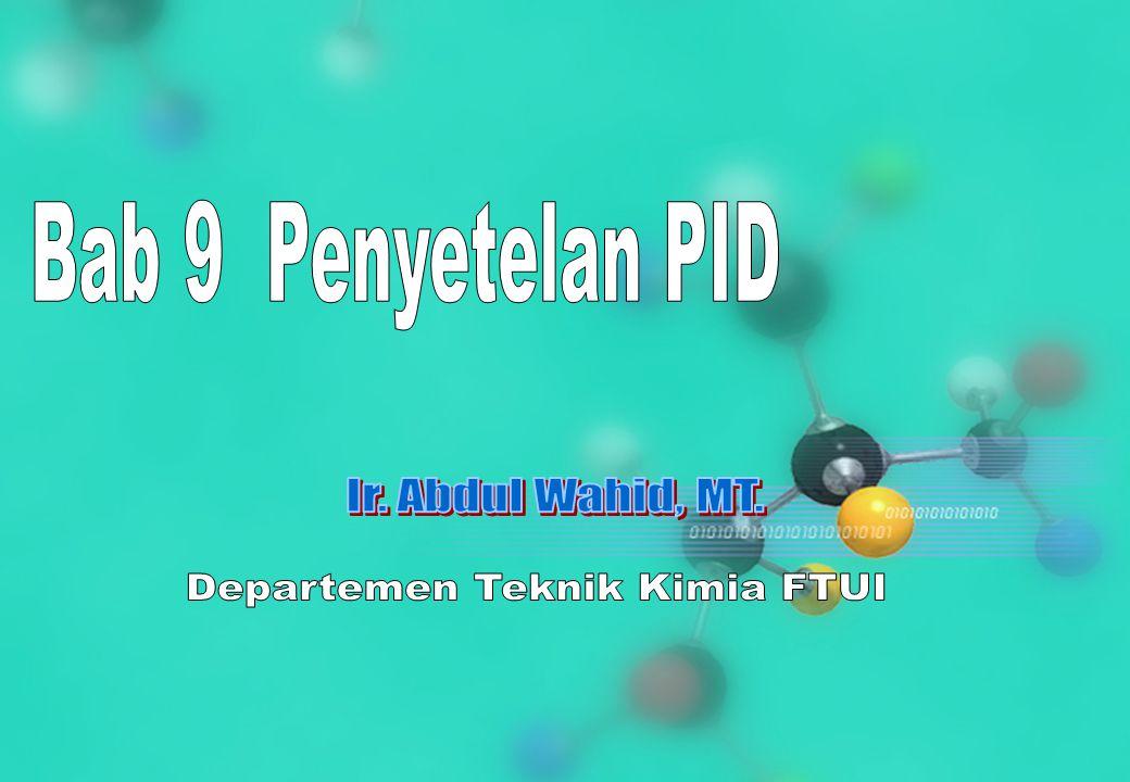 CHS31024 Edisi 22 Nop 06 22 Kp = 1  = 5  = 5 TC v1 v2 Kc = 0.74 TI = 7.5 Td = 0.90 Process reaction curve Selesaikan masalah penyetelan.