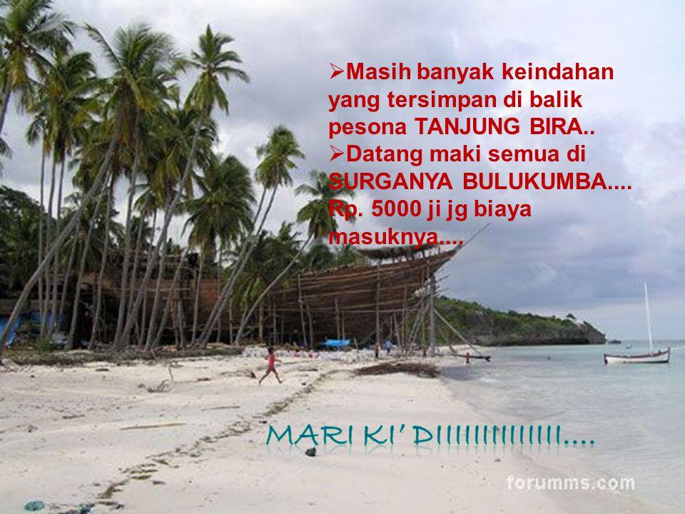  Kawasan wisata Pantai Tanjung Bira dilengkapi dengan berbagai fasilitas, seperti restoran, penginapan, villa, bungalow, dan hotel dengan tarif mulai
