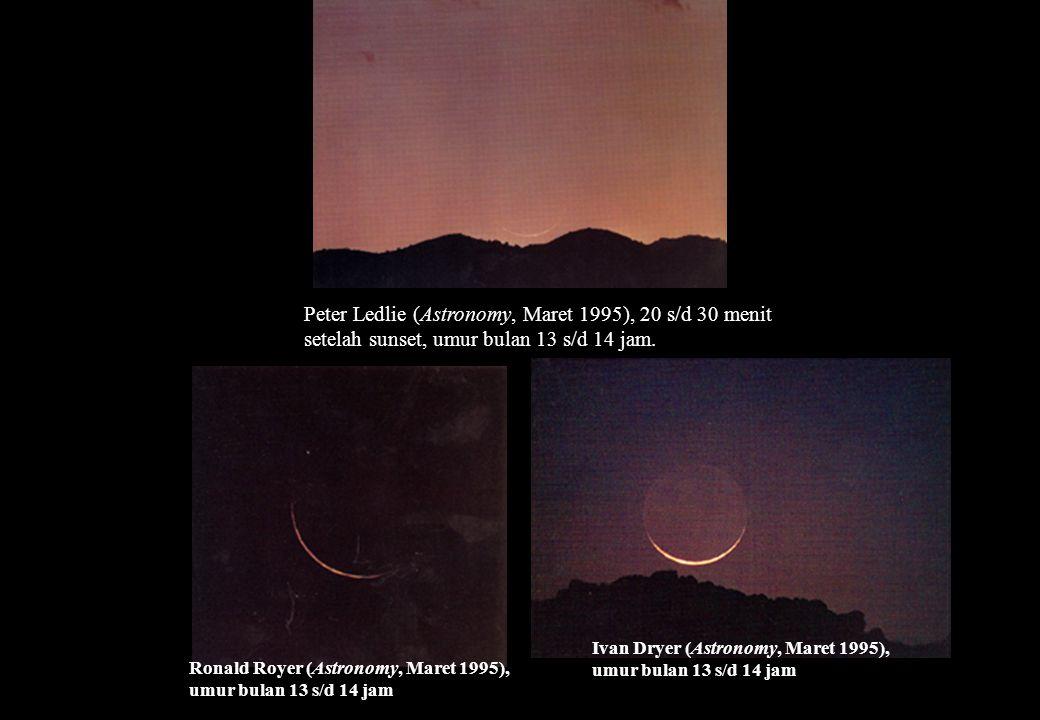 Ronald Royer (Astronomy, Maret 1995), umur bulan 13 s/d 14 jam Ivan Dryer (Astronomy, Maret 1995), umur bulan 13 s/d 14 jam Peter Ledlie (Astronomy, M