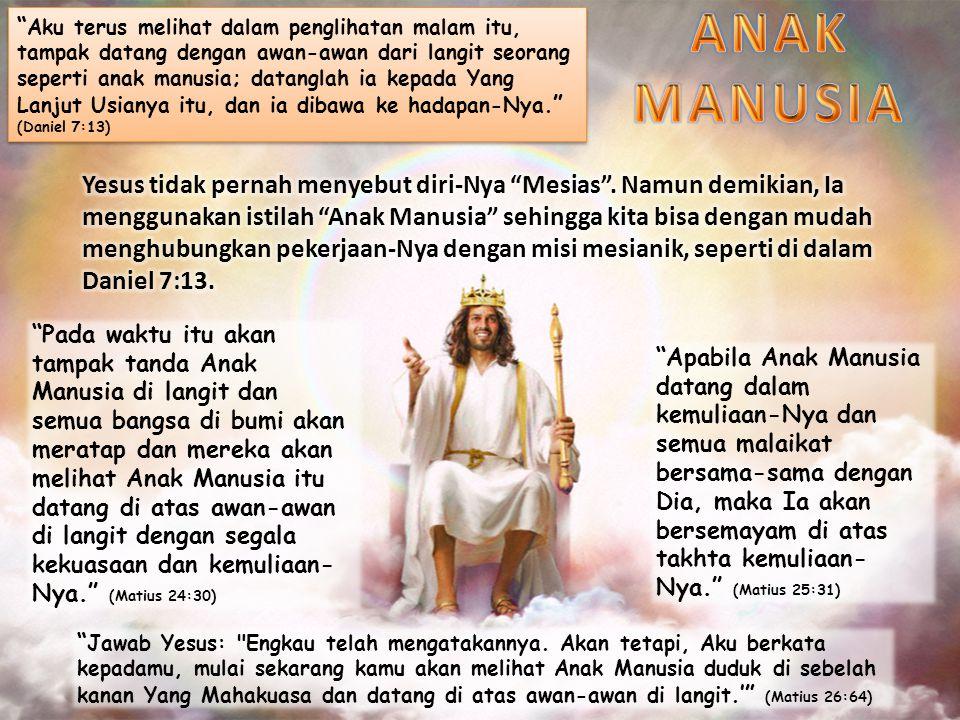 Yesus datang untuk memulihkan apa yang hilang oleh manusia di Taman Eden.