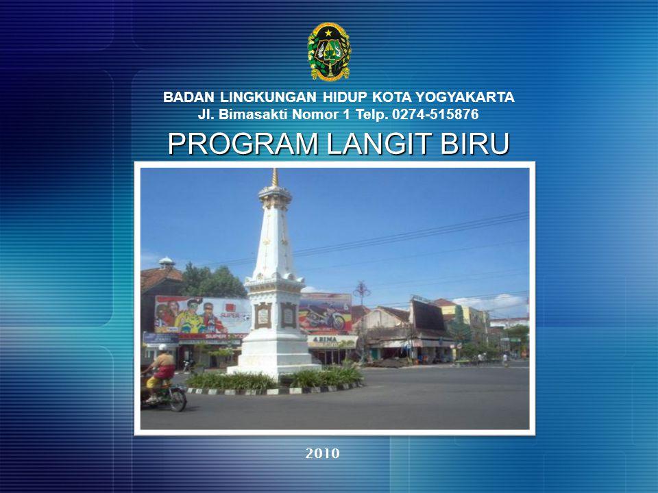 PROGRAM LANGIT BIRU BADAN LINGKUNGAN HIDUP KOTA YOGYAKARTA Jl. Bimasakti Nomor 1 Telp. 0274-515876 2010
