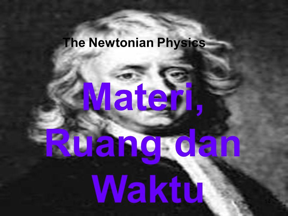 PPS UAD Yogjakarta, 15 Maret 2013 The Newtonian Physics Materi, Ruang dan Waktu 14