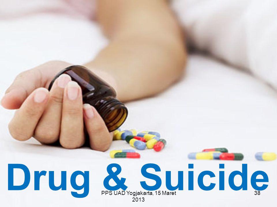 PPS UAD Yogjakarta, 15 Maret 2013 Drug & Suicide 38