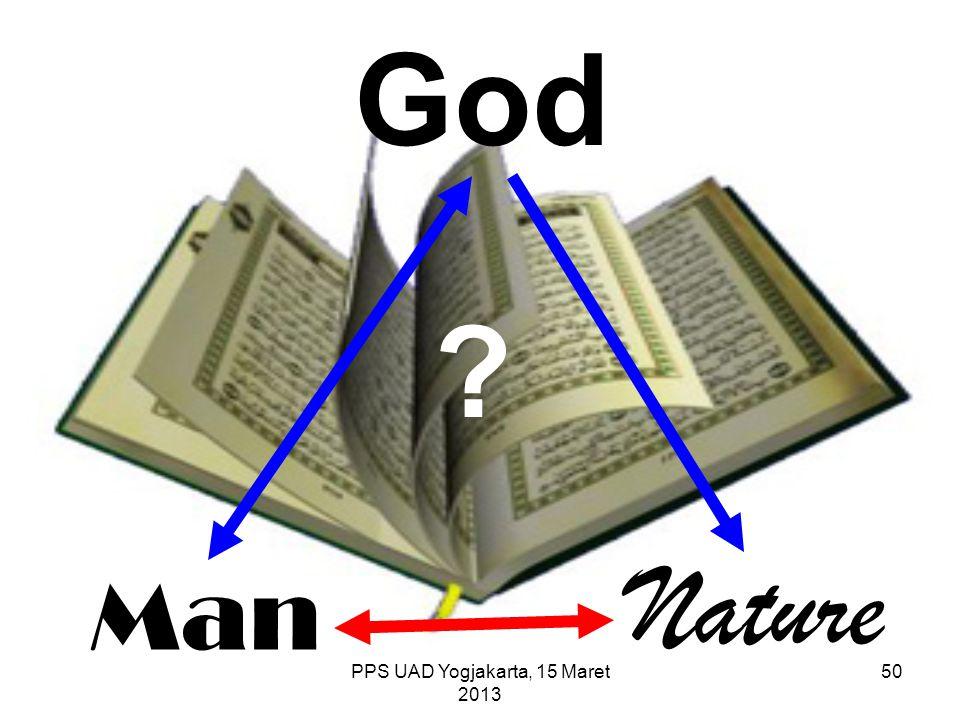 Man Nature God ? PPS UAD Yogjakarta, 15 Maret 2013 50