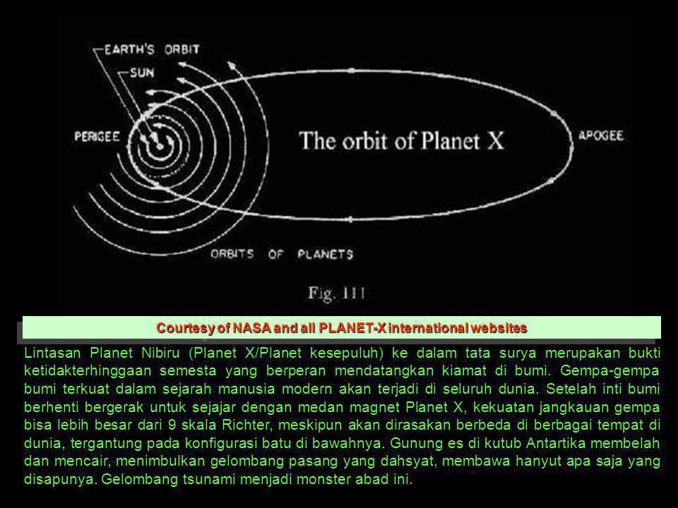 Lintasan Planet Nibiru (Planet X/Planet kesepuluh) ke dalam tata surya merupakan bukti ketidakterhinggaan semesta yang berperan mendatangkan kiamat di