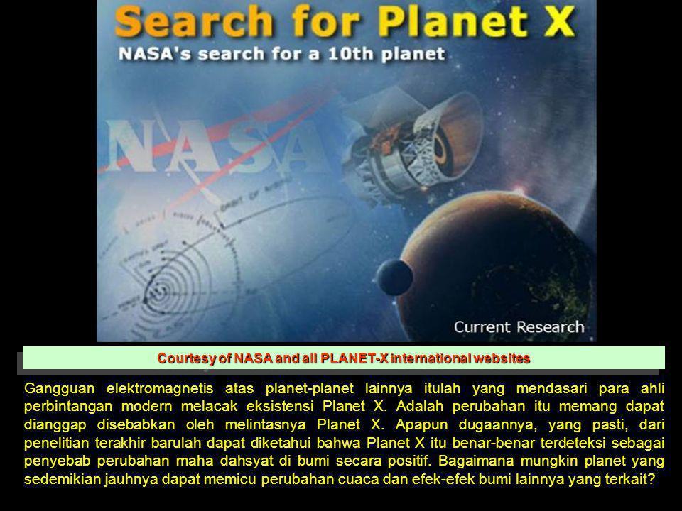 Courtesy of NASA and all PLANET-X international websites Gangguan elektromagnetis atas planet-planet lainnya itulah yang mendasari para ahli perbintan