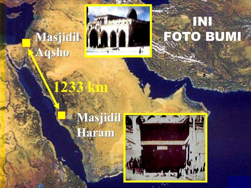 Masjidil Haram Masjidil Aqsho INI FOTO BUMI 1233 km