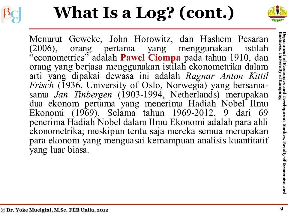 8 What Is a Log.© Dr. Yoke Muelgini, M.Sc.
