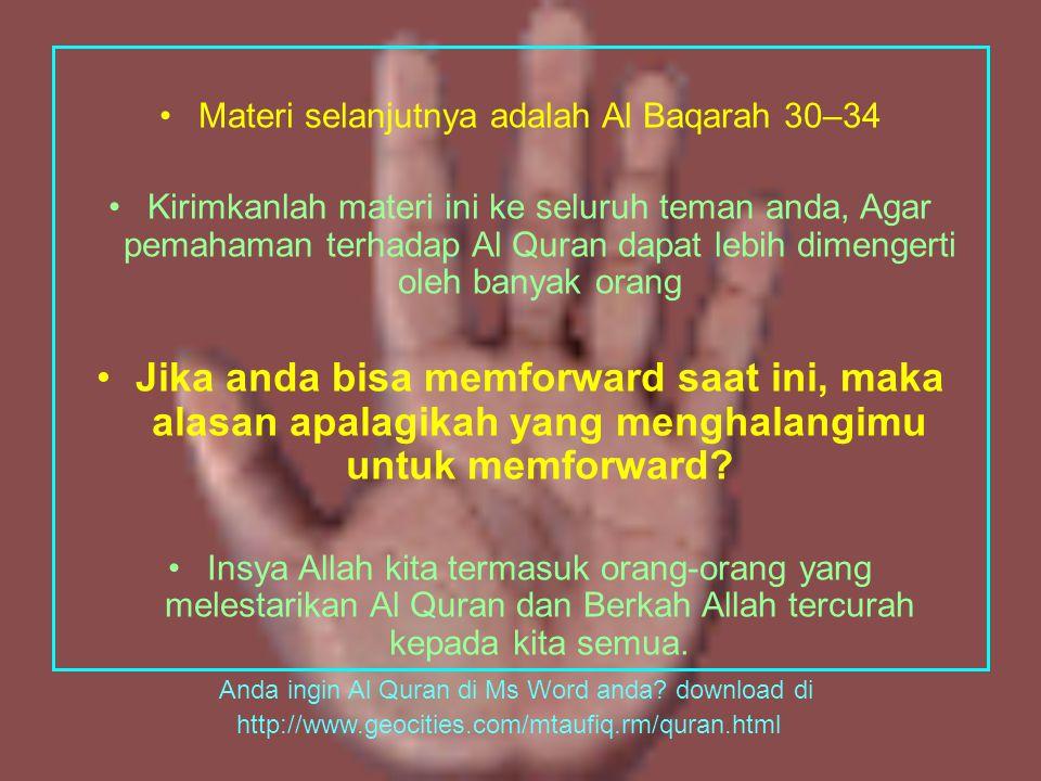 Ulangan Al Baqarah 27-29 terjemahkanlah