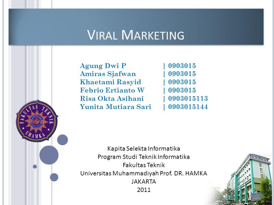 Kapita Selekta Informatika Program Studi Teknik Informatika Fakultas Teknik Universitas Muhammadiyah Prof.