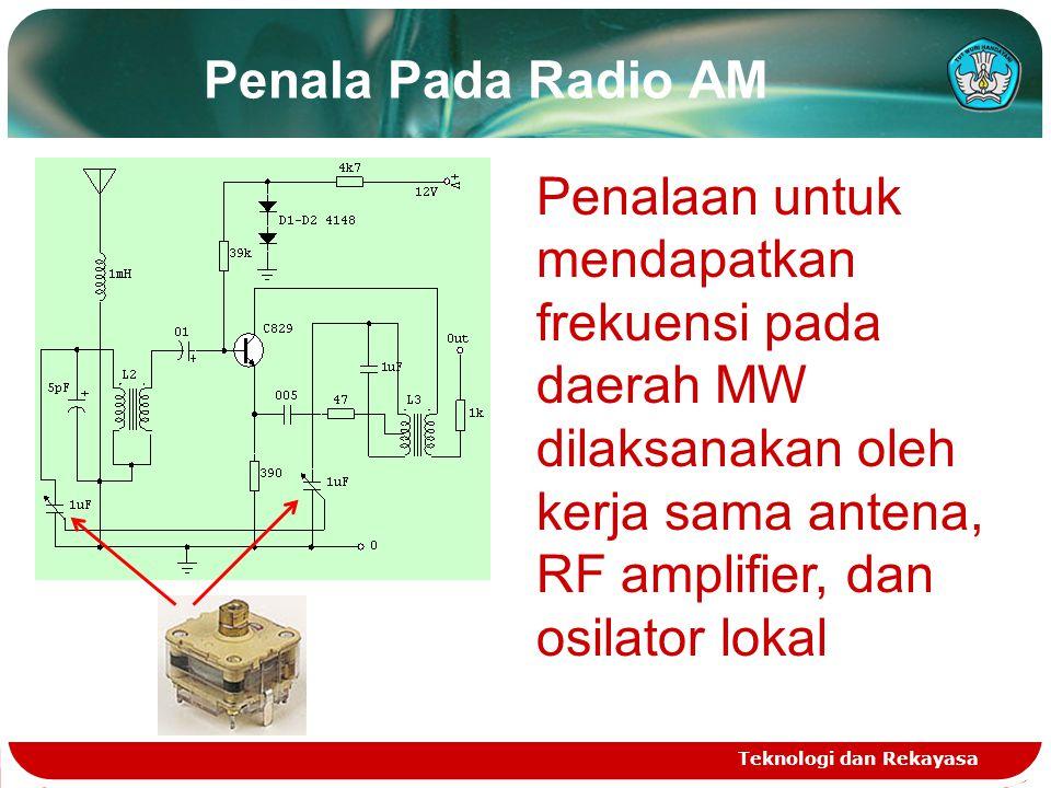 Rangkaian Penala Pada Radio FM Teknologi dan Rekayasa Pada frekuensi yang tinggi, impedansi input FET akan jauh menurun akibat adanya kapasitas junctionnya