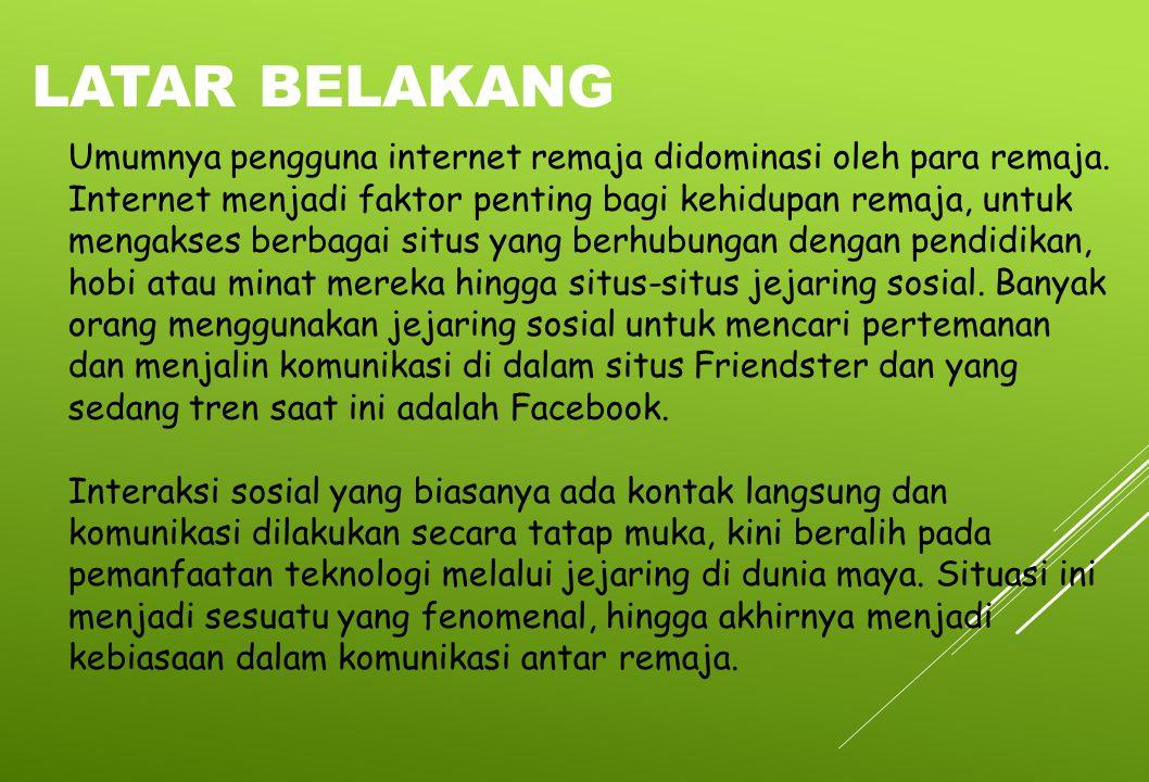 Efek positif dan negatif internet pada remaja yang seolah kontradiktif membuktikan bahwa dampak dari internet Internet ada untuk membantu kehidupan manusia.