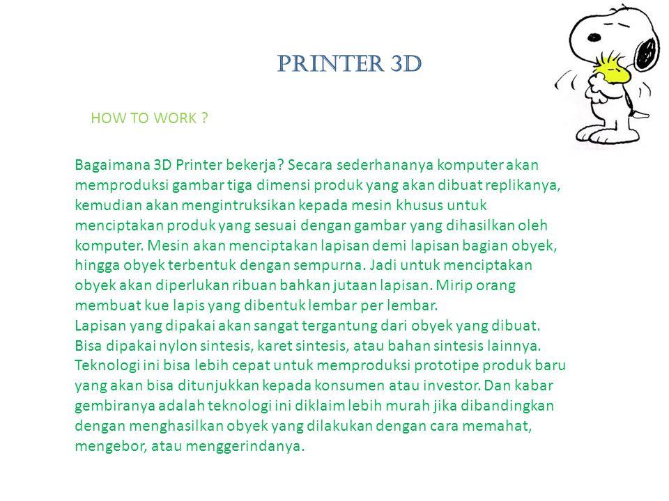 Bagaimana 3D Printer bekerja.