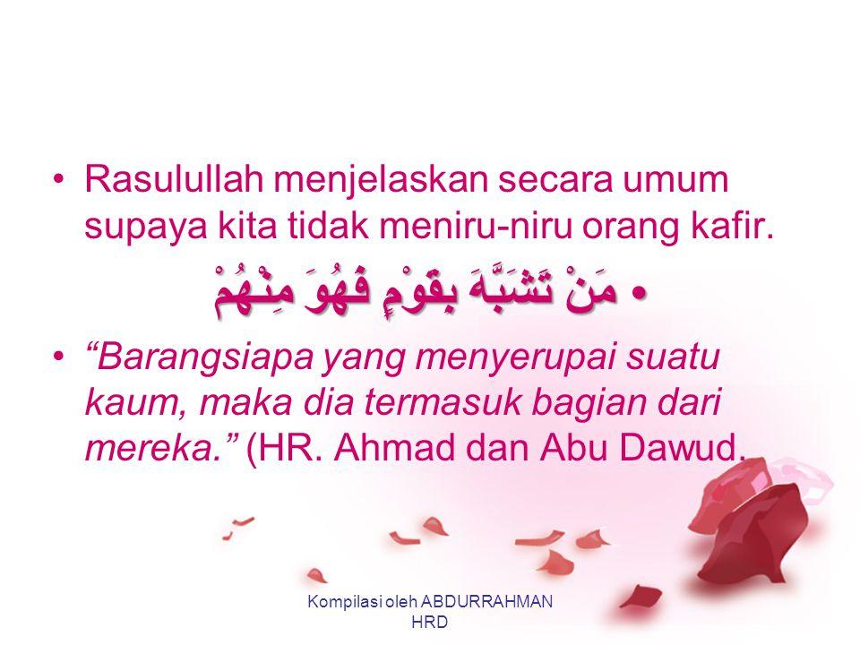 "Kerusakan Pertama: Merayakan Valentine Berarti Meniru-niru Orang Kafir إِنَّ الْيَهُودَ وَالنَّصَارَى لاَ يَصْبُغُونَ ، فَخَالِفُوهُمْ ""Sesungguhnya o"