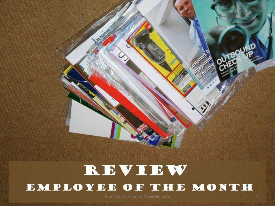 REVIEW EMPLOYEE OF THE MONTH Manajemen Sumber Daya Manusia1