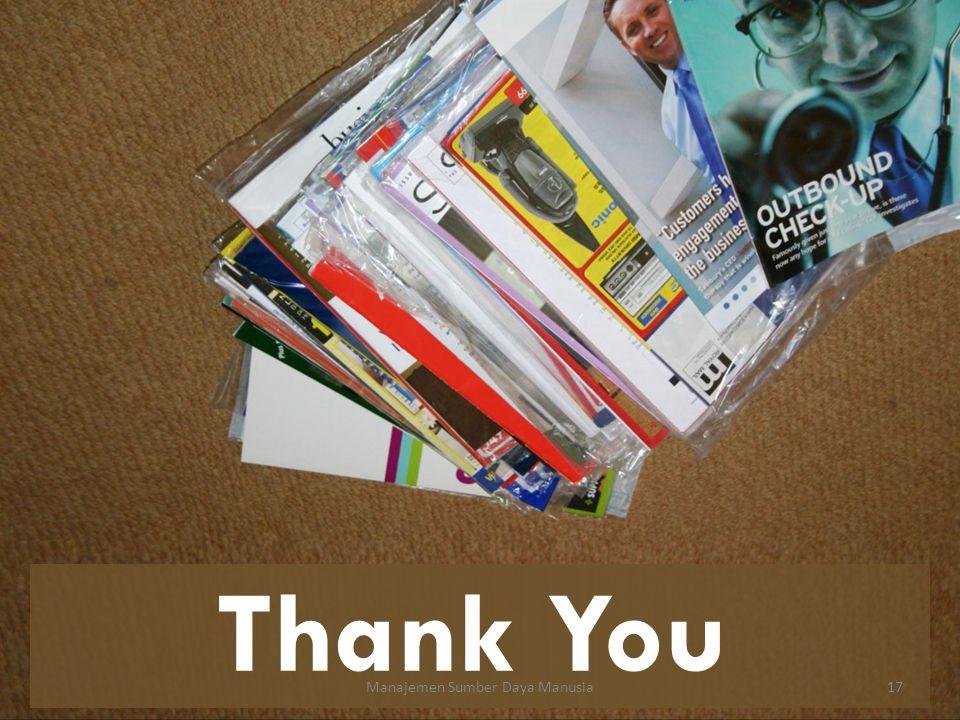 Thank You Manajemen Sumber Daya Manusia17