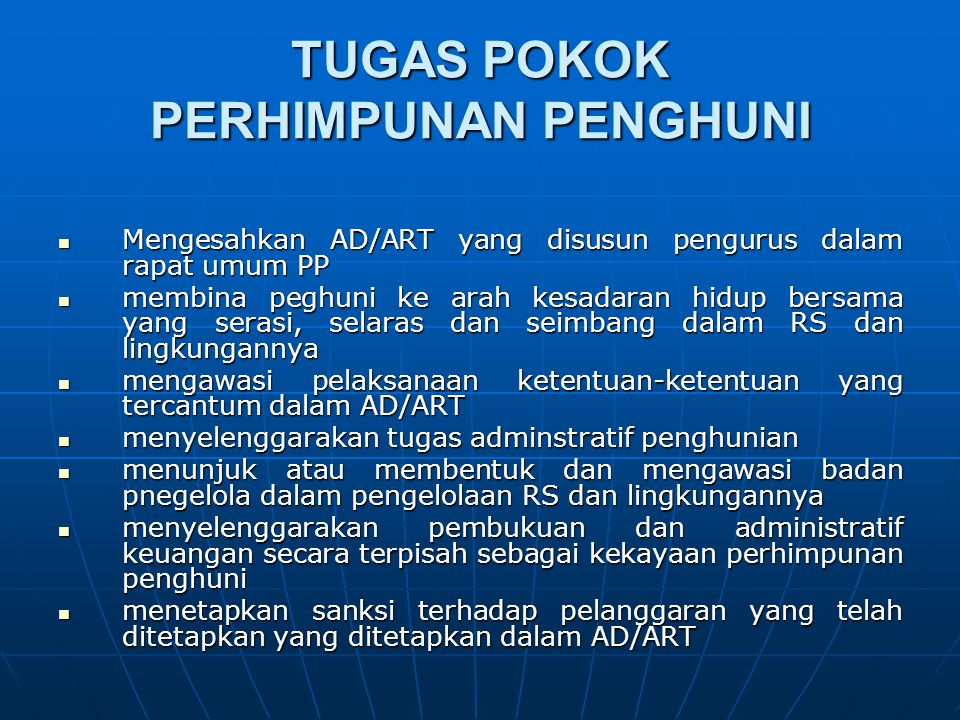 Rapat PP Rapat Pengurus PP Rapat Umum PP RU Tahunan RU Luar Biasa SAH 2/3 jumlh anggota PP kecuali ditentukan lain dalam AD