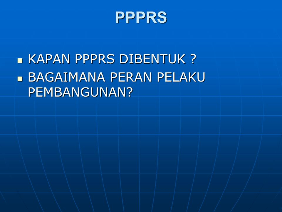 TERBENTUKNYA PPPRS Pasal 75 UURS Pasal 75 UURS (1) Pelaku pembangunan wajib memfasilitasi terbentuknya PPPSRS paling lambat sebelum masa transisi sebagaimana dimaksud pada Pasal 59 ayat (2) berakhir.