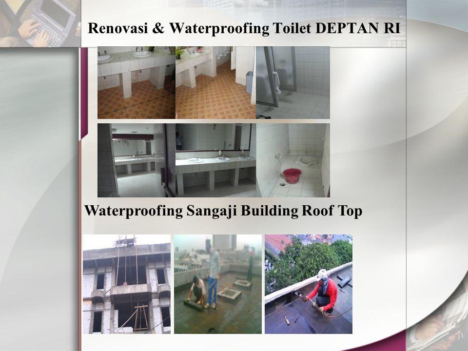 Renovasi & Waterproofing Toilet DEPTAN RI Waterproofing Sangaji Building Roof Top
