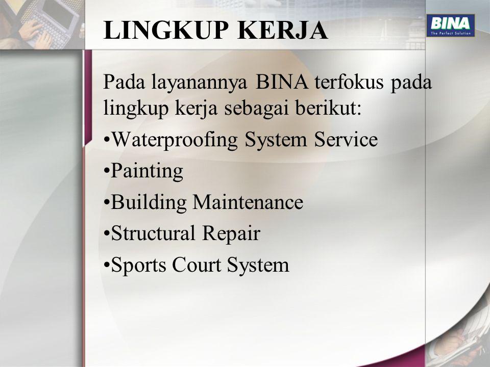 B.1 WATERPROOFING SYSTEM Waterproofing System adalah system kalis air/ anti bocor yang digunakan dalam memproteksi bangunan dari kebocoran air.