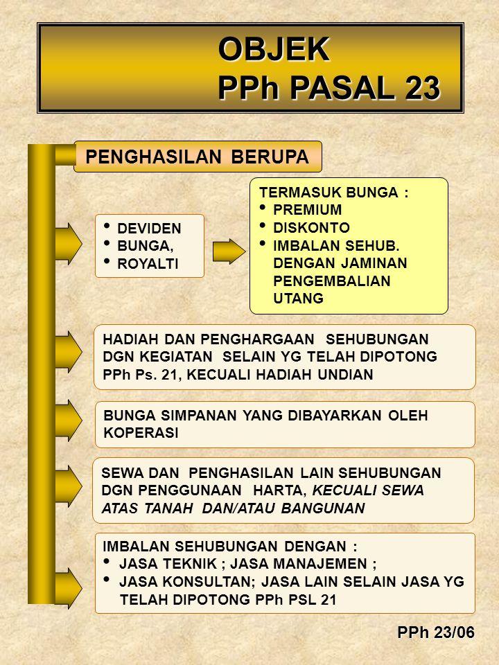 PENGHASILAN BERUPA HADIAH DAN PENGHARGAAN SEHUBUNGAN DGN KEGIATAN SELAIN YG TELAH DIPOTONG PPh Ps. 21, KECUALI HADIAH UNDIAN SEWA DAN PENGHASILAN LAIN