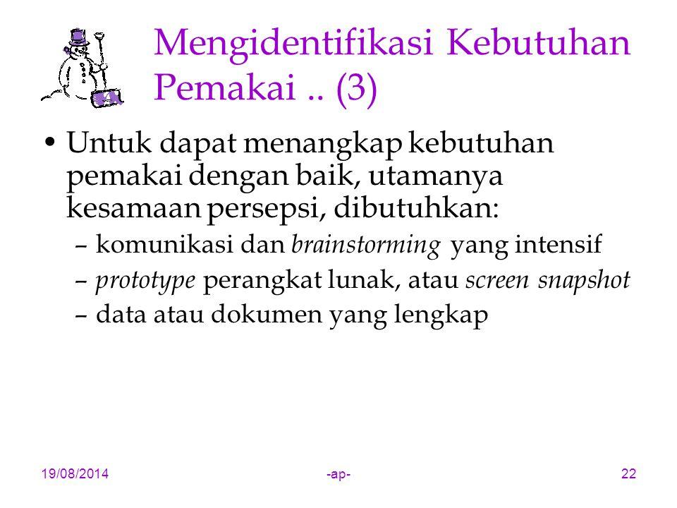 19/08/2014-ap-22 Mengidentifikasi Kebutuhan Pemakai..