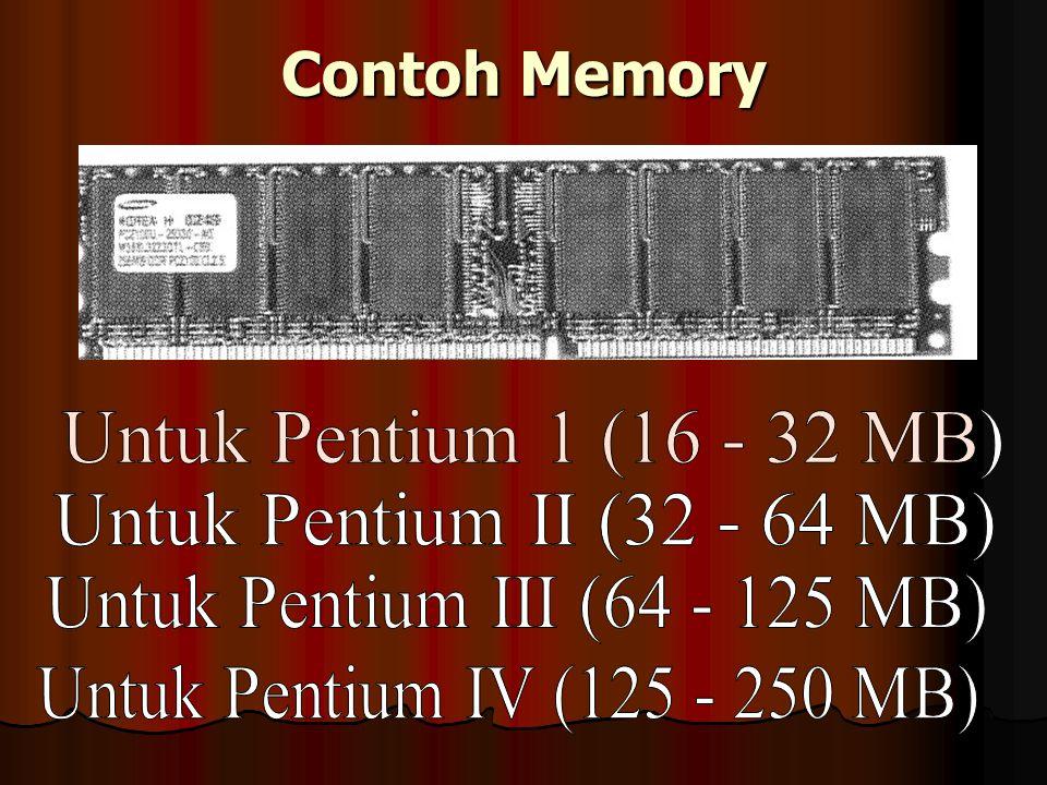 R A M (Ramdom Access Memory) Memory yang dapat diisi sementara selama listrik masih ada.
