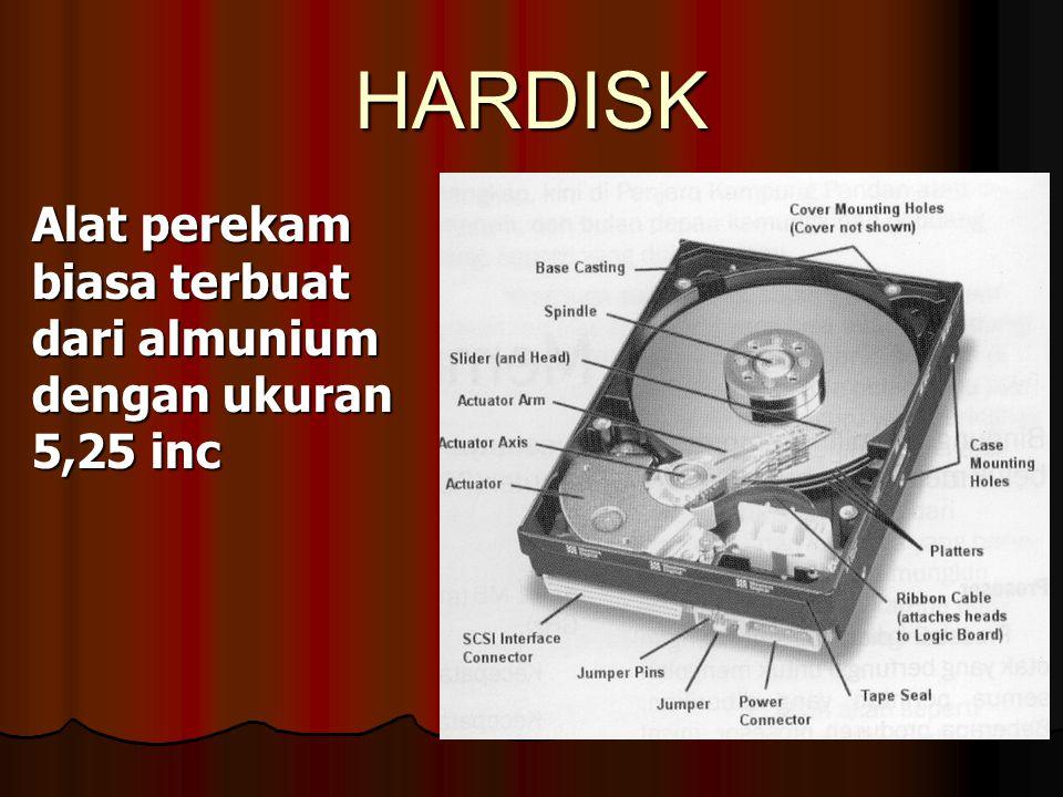 Disket alat perekam dengan ukuran 3,5 inc dengan kapasitas 1,44 MB