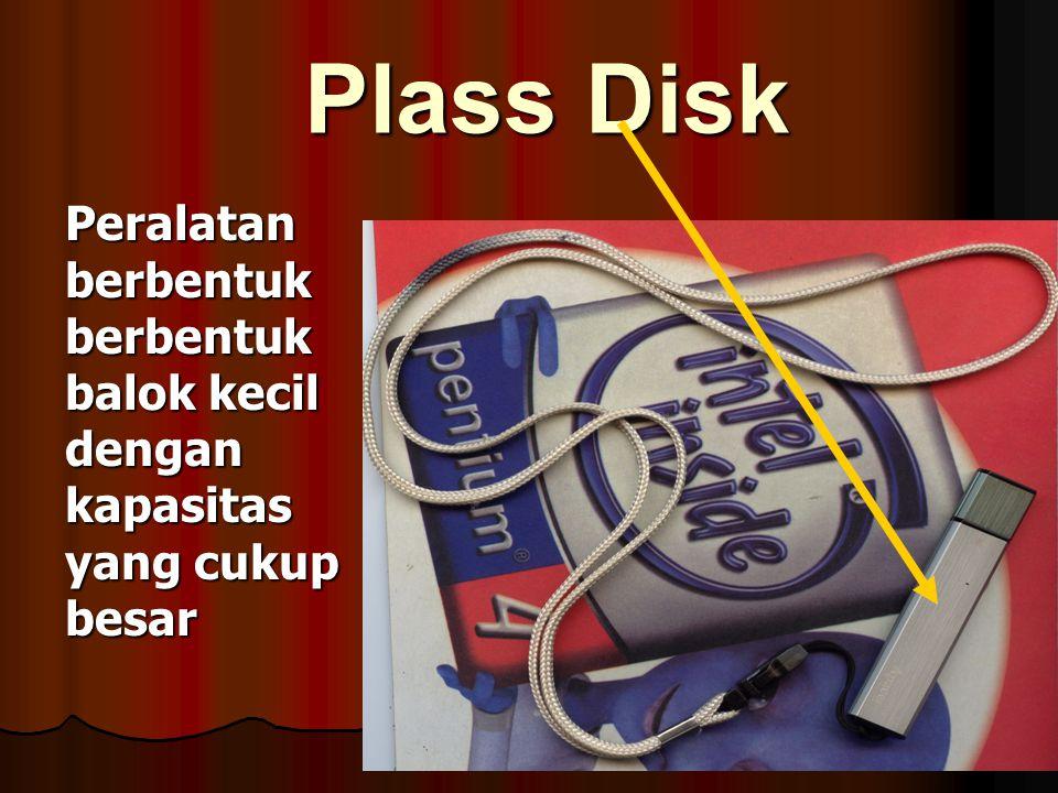 Compact Disk (CD) Alat perekam dengan ukuran 3,5 inc dengan kapasitas 650 MB