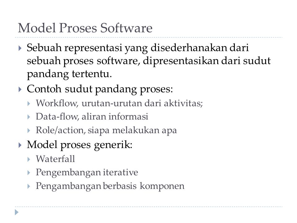 Model Proses Software  Waterfall