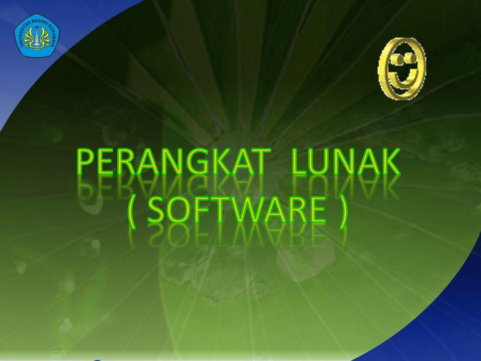 Perangkat Lunak Pengolah Kata Perangkat aplikasi yang digunakan untuk membuat tulisan di komputer