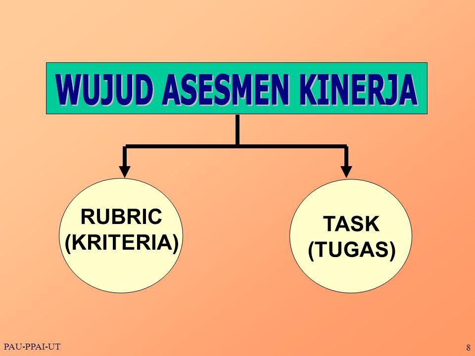 PAU-PPAI-UT 8 TASK (TUGAS) RUBRIC (KRITERIA)