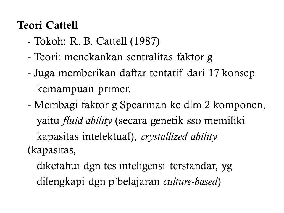 Teori Cattell - Tokoh: R.B.