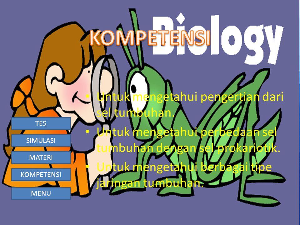 TES SIMULASI MATERI KOMPETENSI MENU badan Golgi nukleus kloroplas ribosom mitokondria 3.