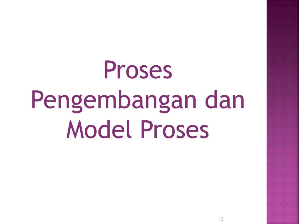 Proses Pengembangan dan Model Proses 13