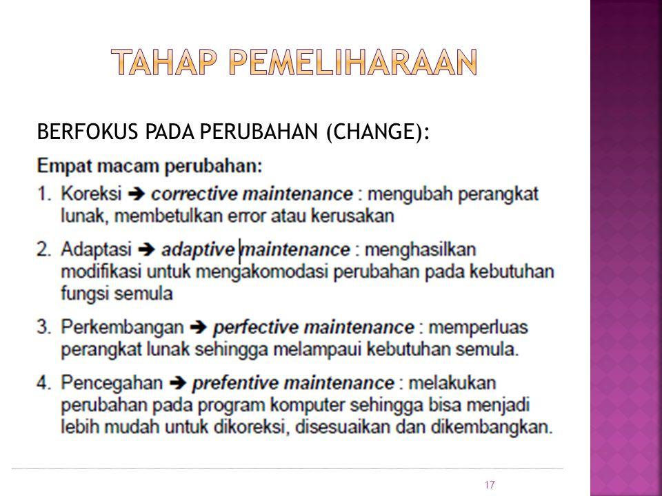 BERFOKUS PADA PERUBAHAN (CHANGE): 17