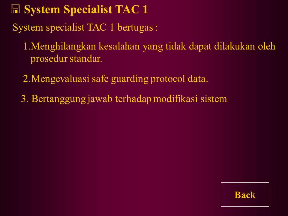  OAM Specialist OAM Specialist membantu tugas OAM Technician yang memerlukan pengetahuan yang mumpuni tentang sistem. Contoh : - Loading patches to c