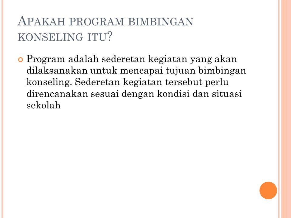 K ETERANGAN : 1.Kepala sekolah Penanggung jawab pelaksanaan teknis bimbingan konseling 2.
