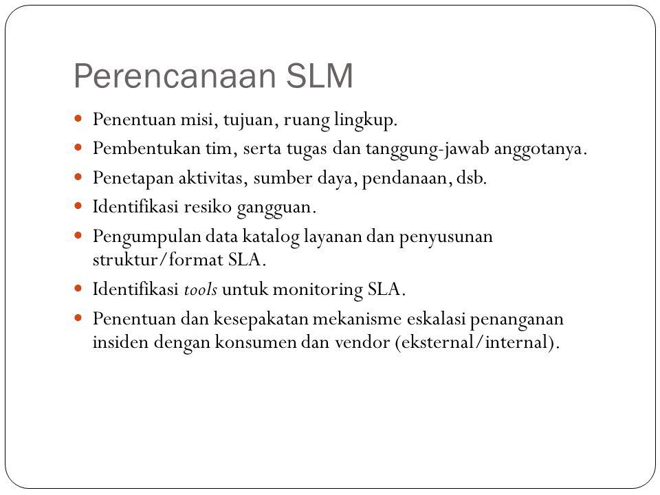 Perencanaan SLM 13 Penentuan misi, tujuan, ruang lingkup.