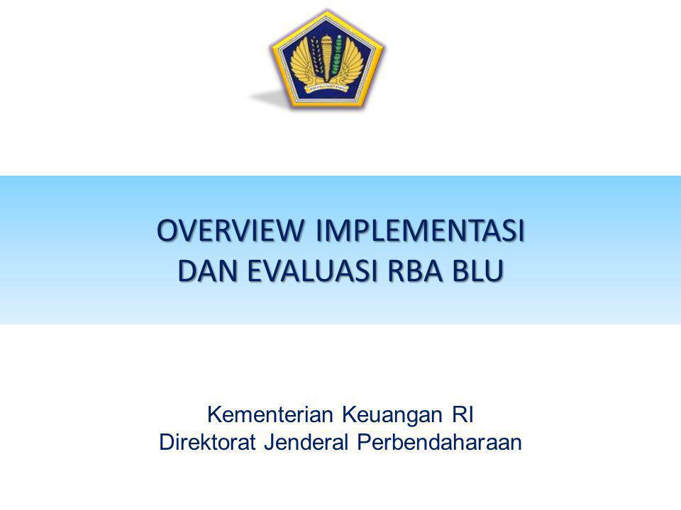 OVERVIEW IMPLEMENTASI DAN EVALUASI RBA BLU Kementerian Keuangan RI Direktorat Jenderal Perbendaharaan