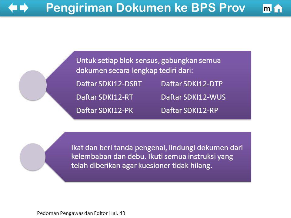 Untuk setiap blok sensus, gabungkan semua dokumen secara lengkap tediri dari: Daftar SDKI12-DSRTDaftar SDKI12-DTP Daftar SDKI12-RTDaftar SDKI12-WUS Daftar SDKI12-PKDaftar SDKI12-RP Ikat dan beri tanda pengenal, lindungi dokumen dari kelembaban dan debu.