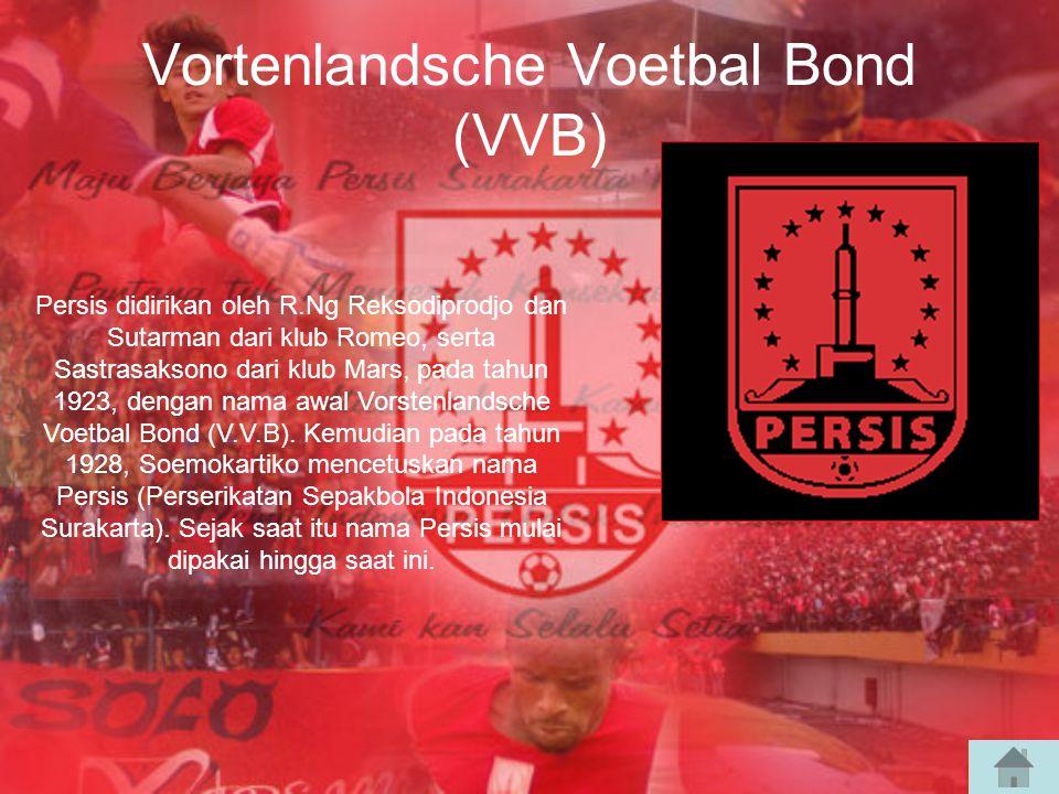 Vortenlandsche Voetbal Bond (VVB) Persis didirikan oleh R.Ng Reksodiprodjo dan Sutarman dari klub Romeo, serta Sastrasaksono dari klub Mars, pada tahun 1923, dengan nama awal Vorstenlandsche Voetbal Bond (V.V.B).