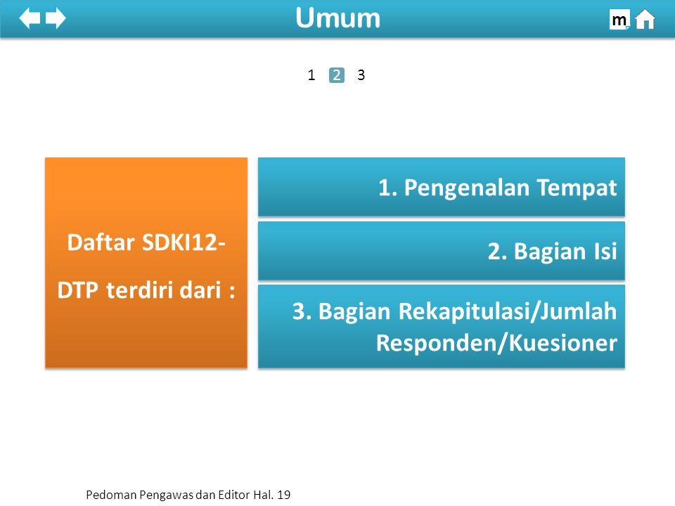 100% SDKI 2012 100% Umum m Daftar SDKI12- DTP terdiri dari : 2.